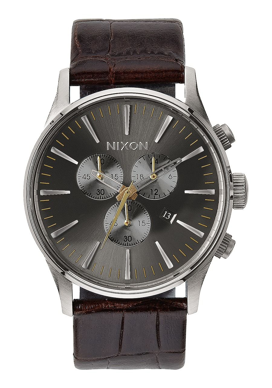 SENTRY CHRONO LEATHER , 42 MM Brown Gator A405-1887-00