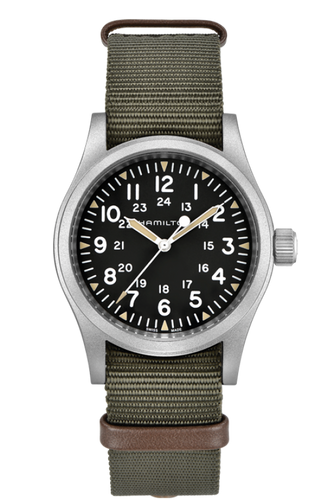 Khaki Field Black Dial Men's Hand Wound Watch H69429931