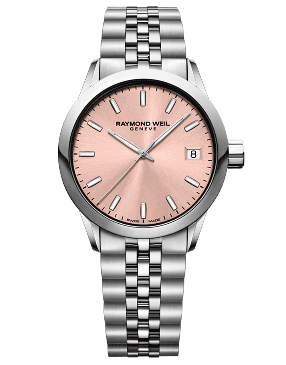 Freelancer Ladies Rose Tone Quartz Date Watch, 34mm 5634-ST-80021