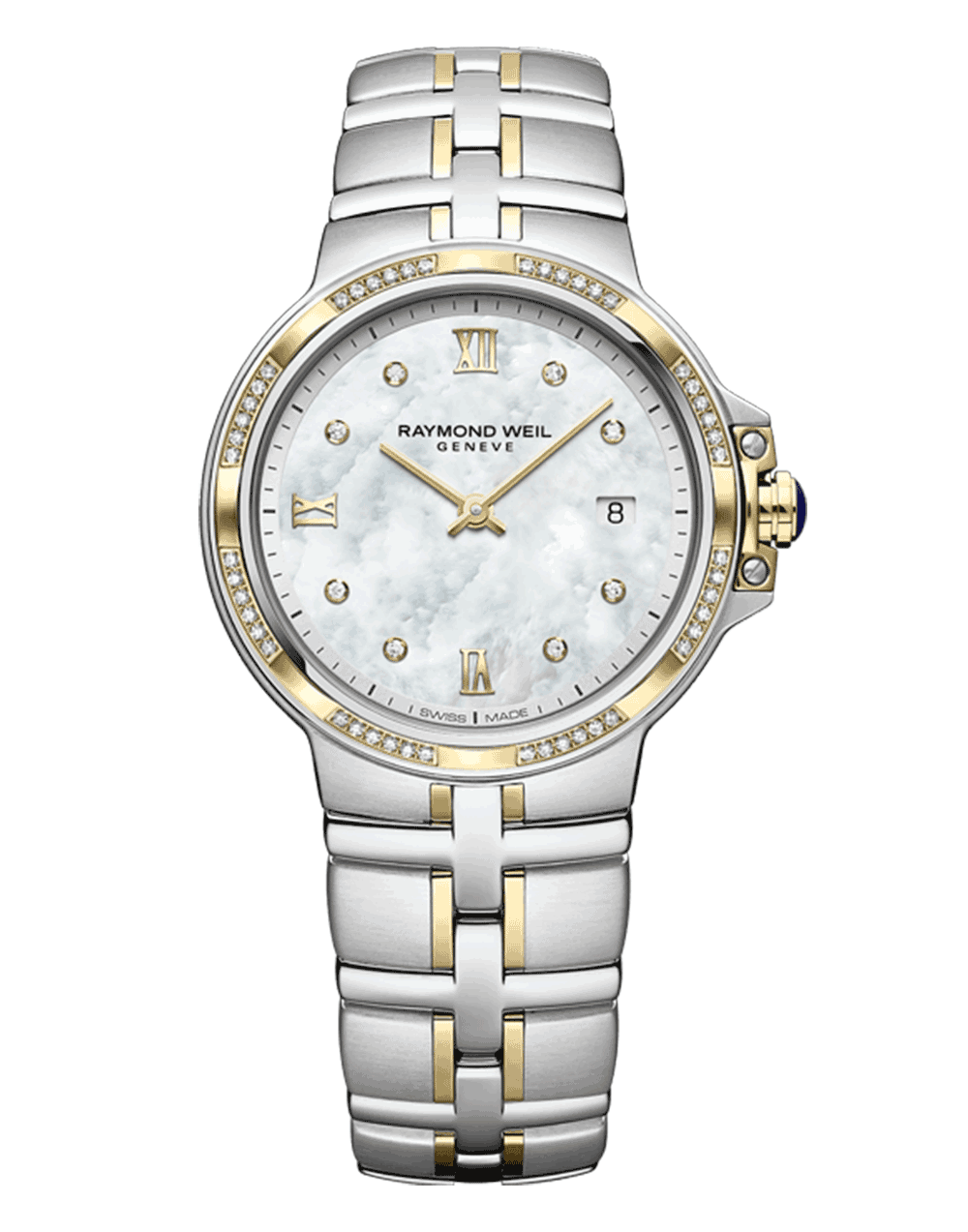Parsifal Ladies Quartz Classic Two-Tone 56 Diamond Dial Watch, 30mm 5180-SPS-00995