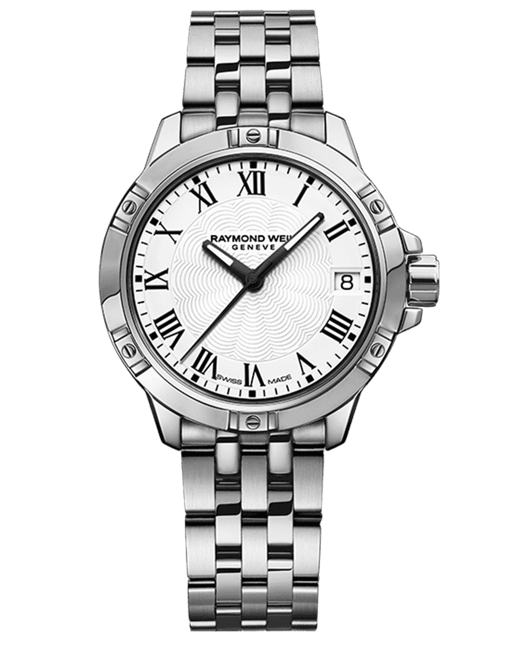 Tango Classic Ladies White Dial Steel Quartz Date Watch, 30mm 5960-ST-00300