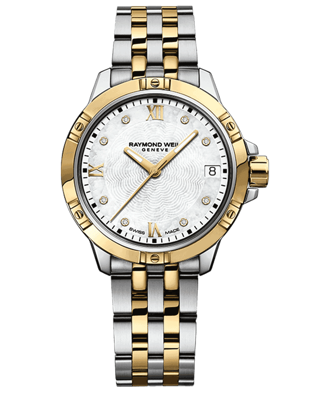 Tango Classic Ladies Gold Two-Tone Stainless Steel Diamond Quartz Watch, 30mm 5960-STP-00995