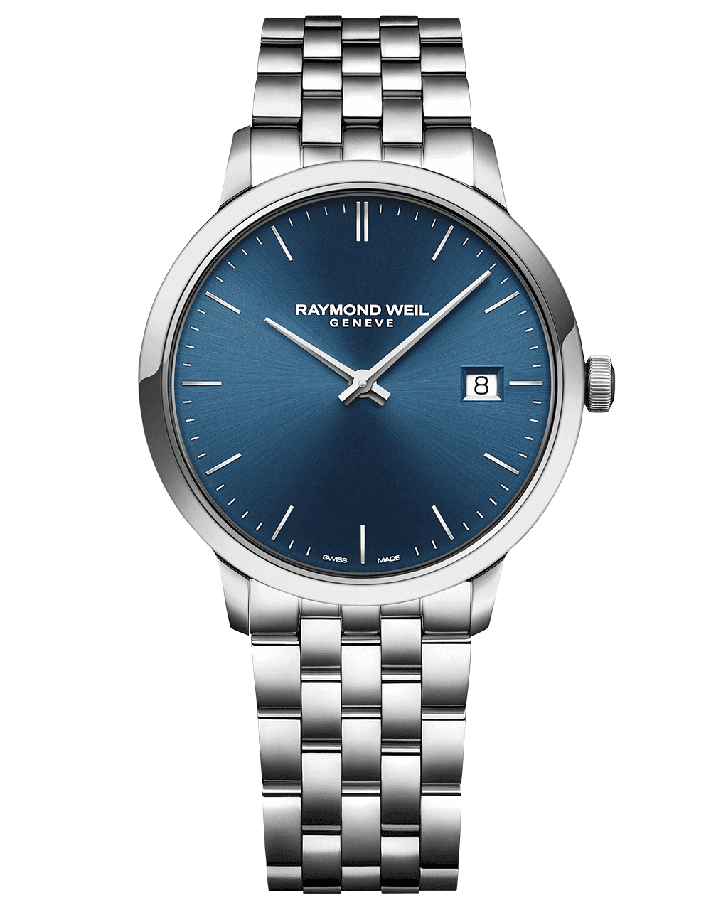 Toccata Men's Classic Steel Blue Dial Quartz Watch 39 mm 5485-ST-50001