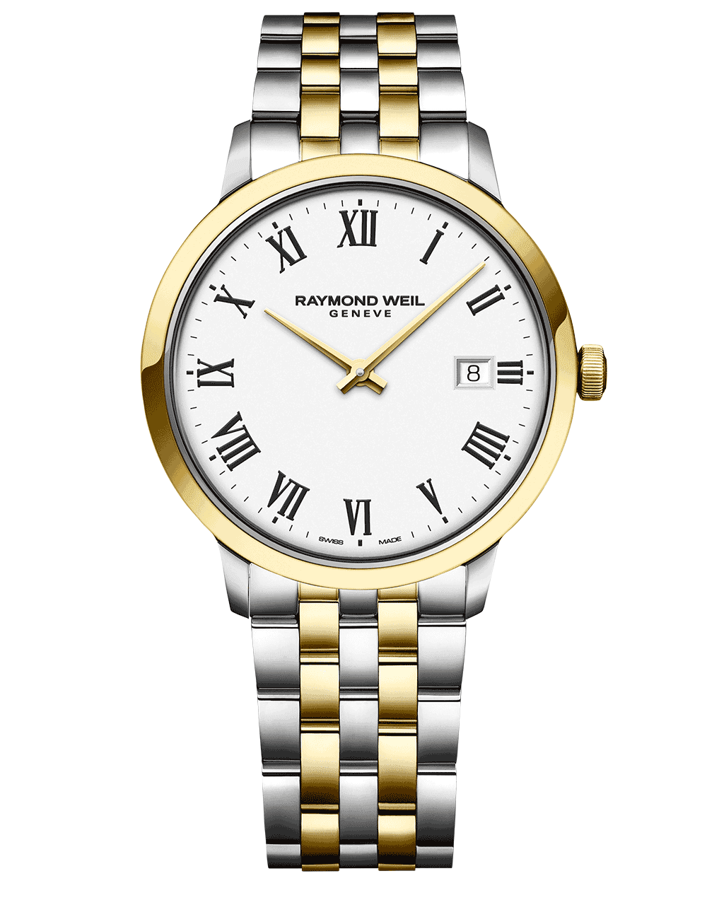 Toccata Men's Classic Two-tone White Dial Quartz Watch 39 mm 5485-STP-00300