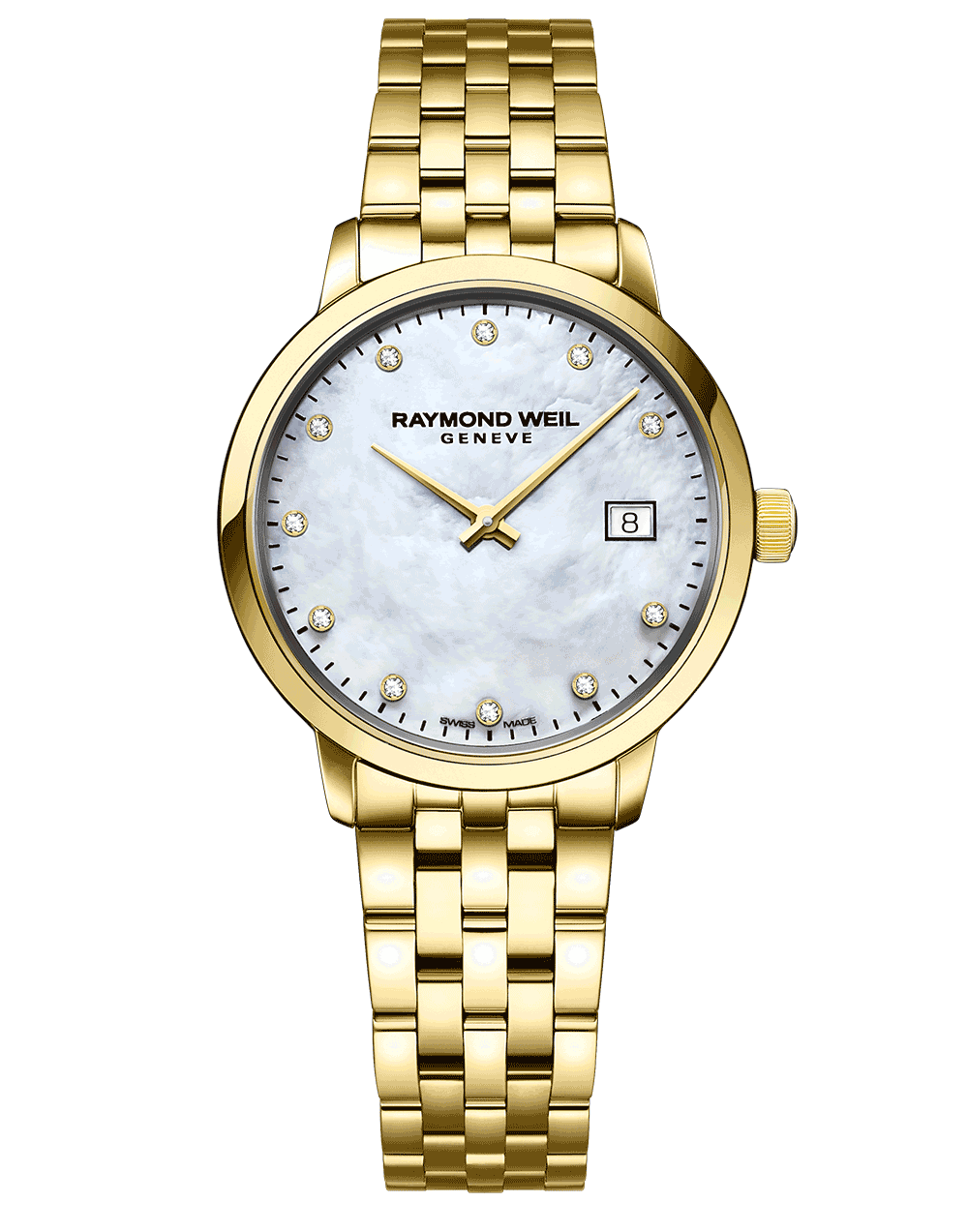 Toccata Ladies Classic Gold Diamond Steel Watch 29 mm 5985-P-97081