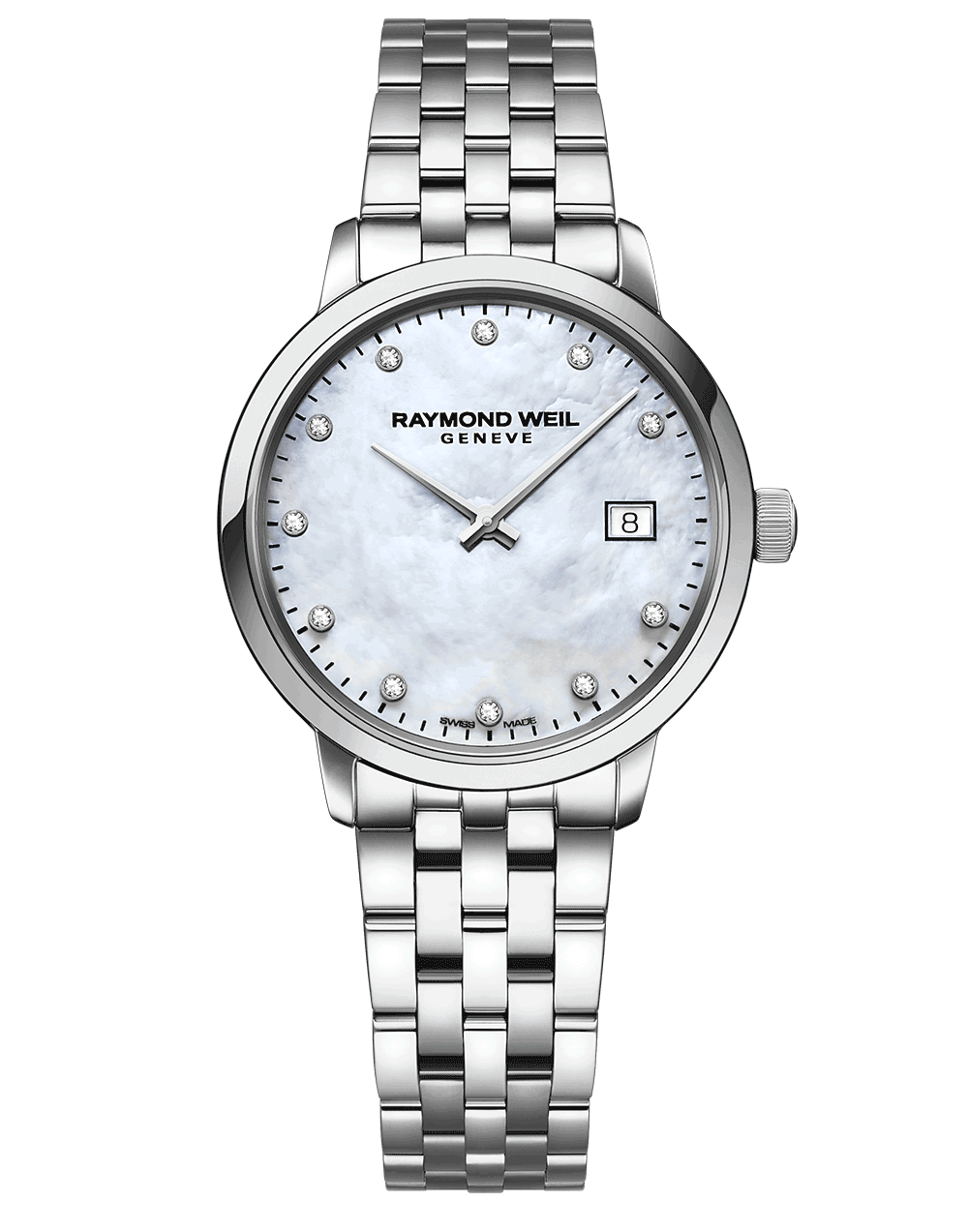 Toccata Ladies White Mother-of-Pearl Diamond Quartz Watch 29 mm 5985-ST-97081