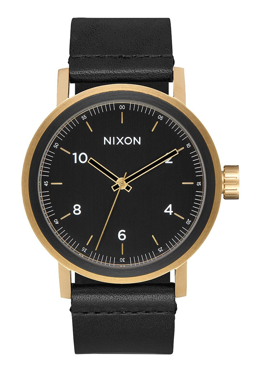 STARK LEATHER , 42 MM Color All Black / Gold A1194-1031-00