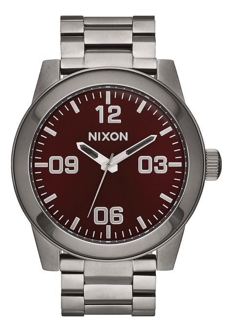 CORPORAL SS , 48 MM Color Gunmetal / Deep Burgundy A346-2073-00