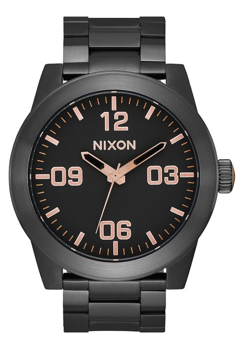 CORPORAL SS , 48 MM Color All Black / Rose Gold A346-957-00