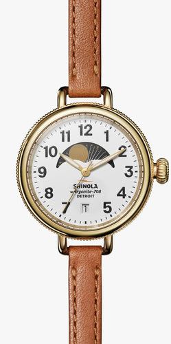 SHINOLA THE BIRDY MOON PHASE 34MM S0120008179