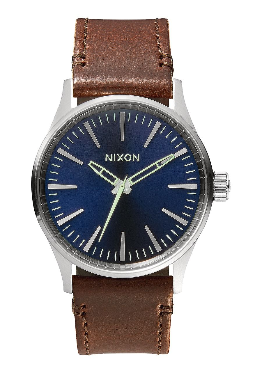 SENTRY 38 LEATHER , 38 MM Blue / Brown A377-1524-00