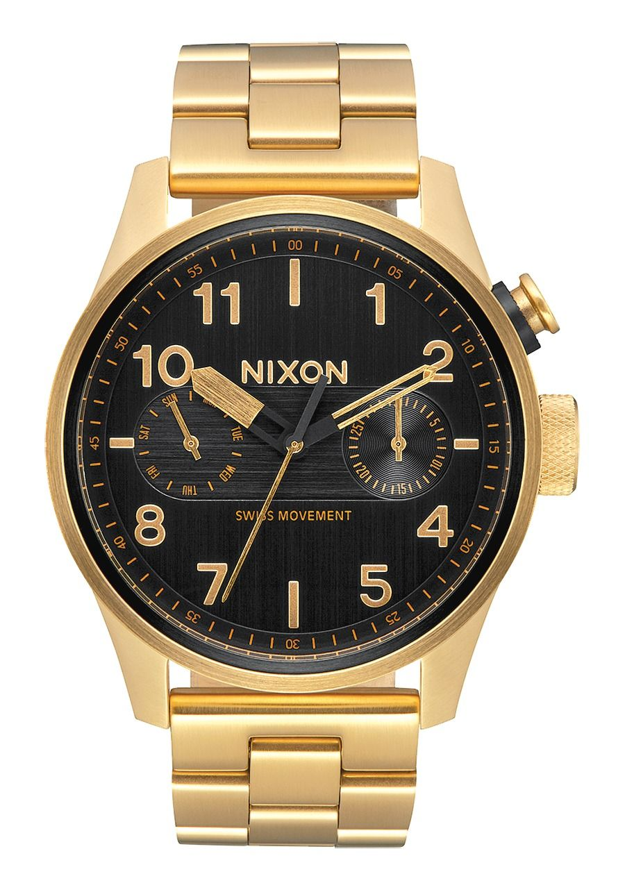 SAFARI DELUXE , 43 MM All Gold / Black A976-510-00