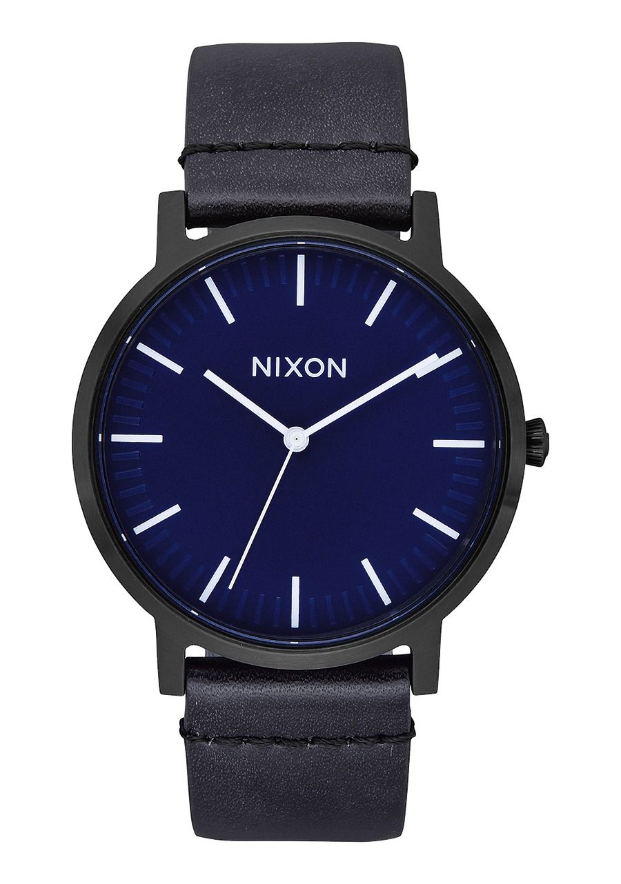PORTER LEATHER , 40 MM All Black / Dark Blue A1058-2668-00