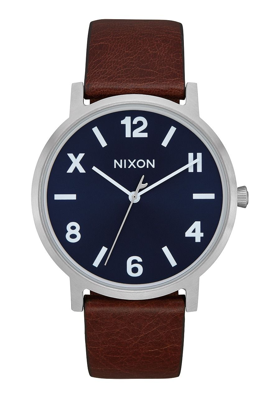PORTER LEATHER , 40 MM Blue / Brown / Cali A1058-3057-00