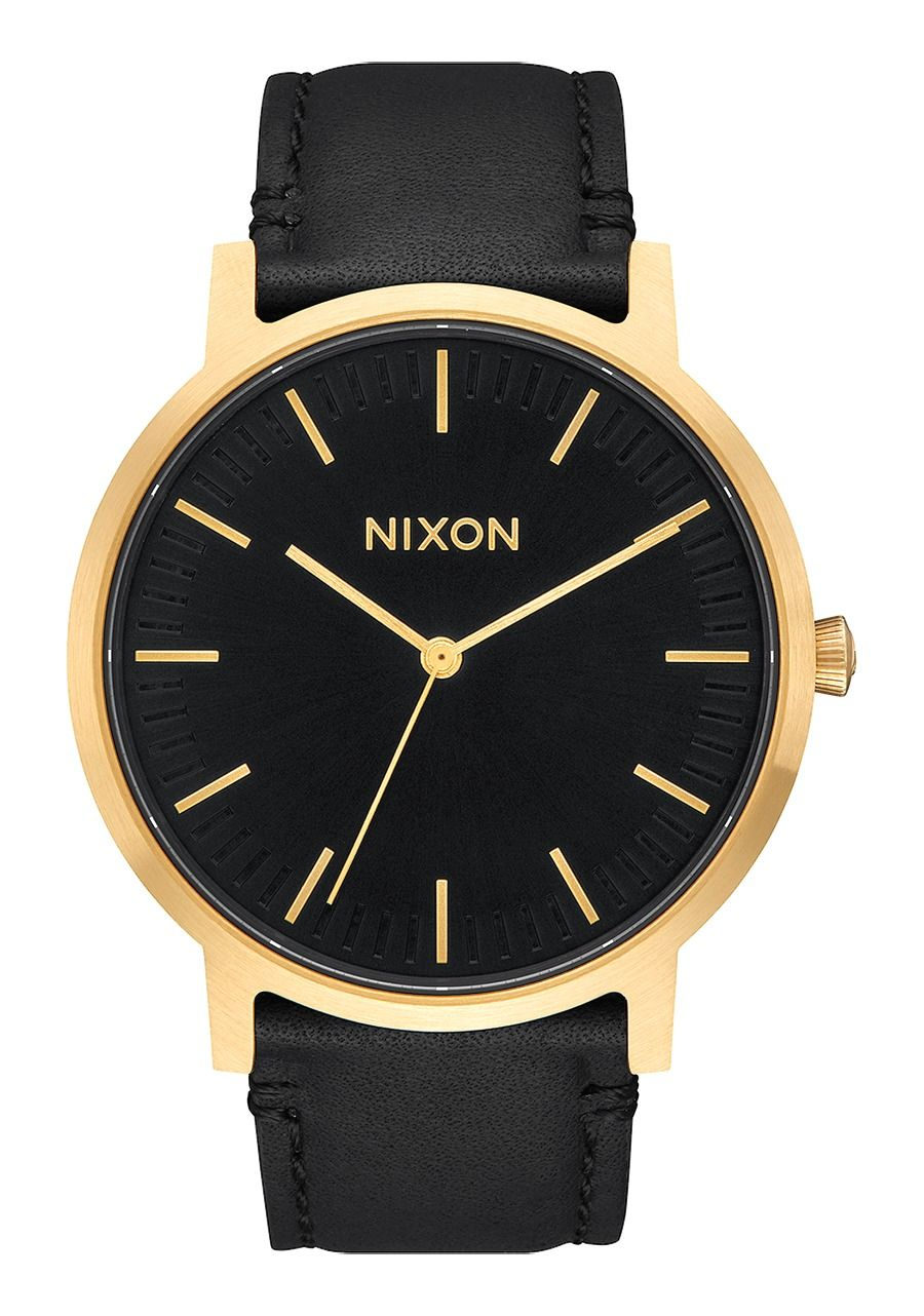 PORTER LEATHER , 40 MM Gold / Black A1058-513-00