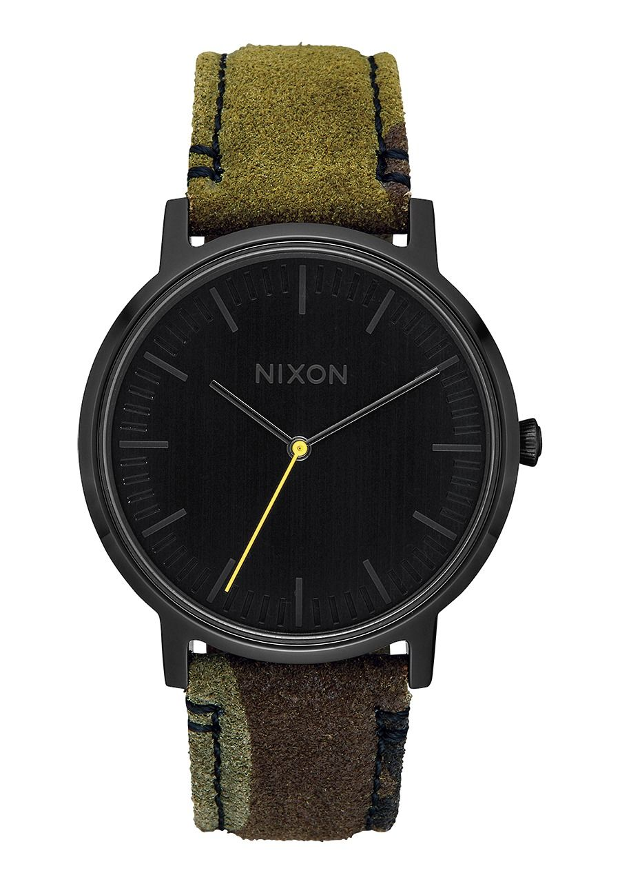 PORTER LEATHER , 40 MM Black / Camo / Volt A1058-3054-00