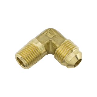 Fitting, 90, .25 NPTM x #6SAE Brass SKU 203855