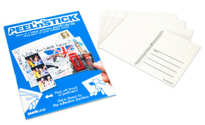 Peel 'n' Stick Adhesive Postcards