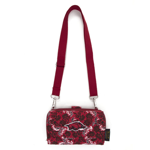 Arkansas Razorbacks Wallet Cross Body Bloom