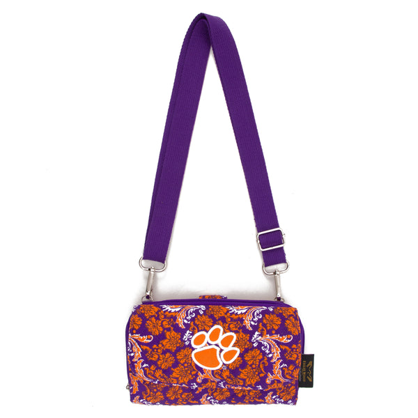 Clemson Wallet Cross Body Bloom