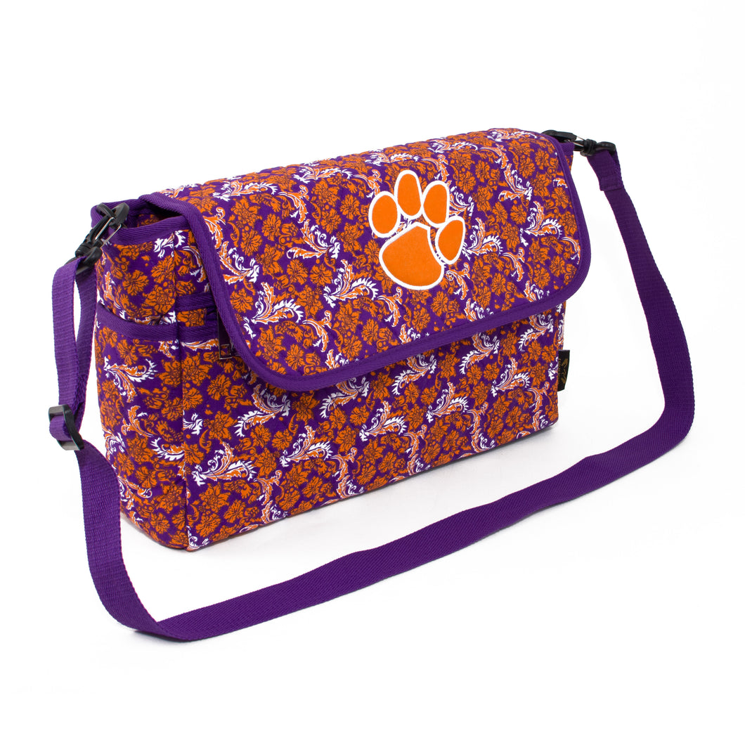 Clemson Tigers Messenger Bag Bloom