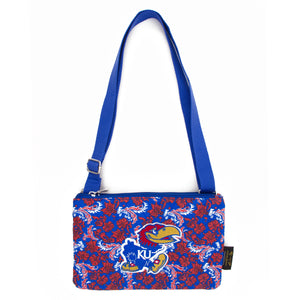Kansas Jayhawks Purse Cross Body Bloom