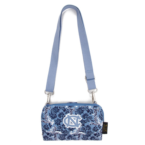North Carolina Cross Body Tar Heels Quilted Cotton Wallet