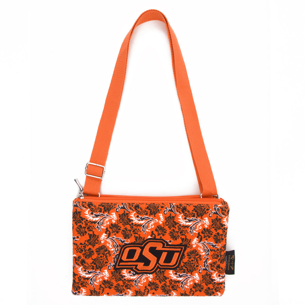 Oklahoma State Purse Cross Body Bloom