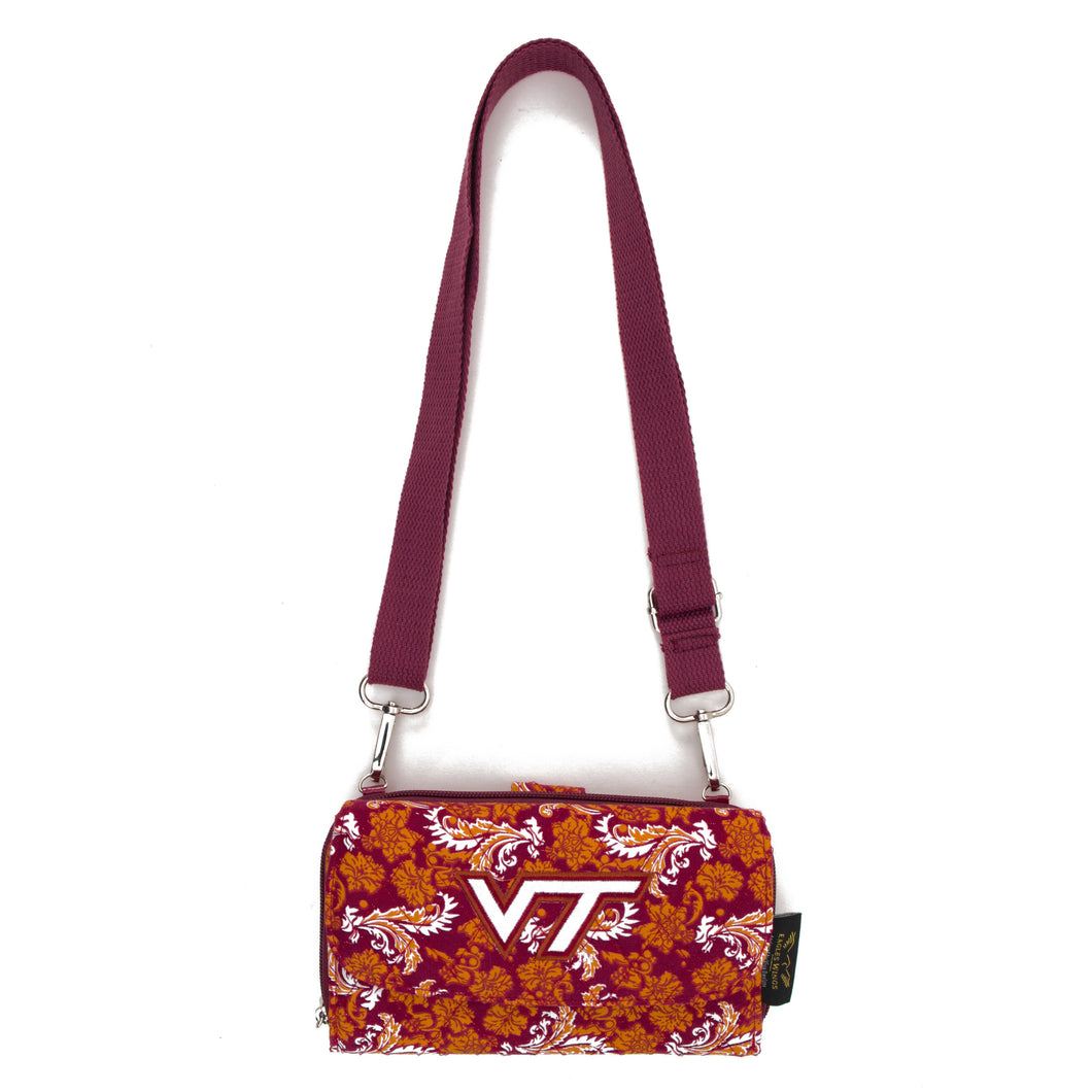 Virginia Tech Wallet Cross Body Bloom
