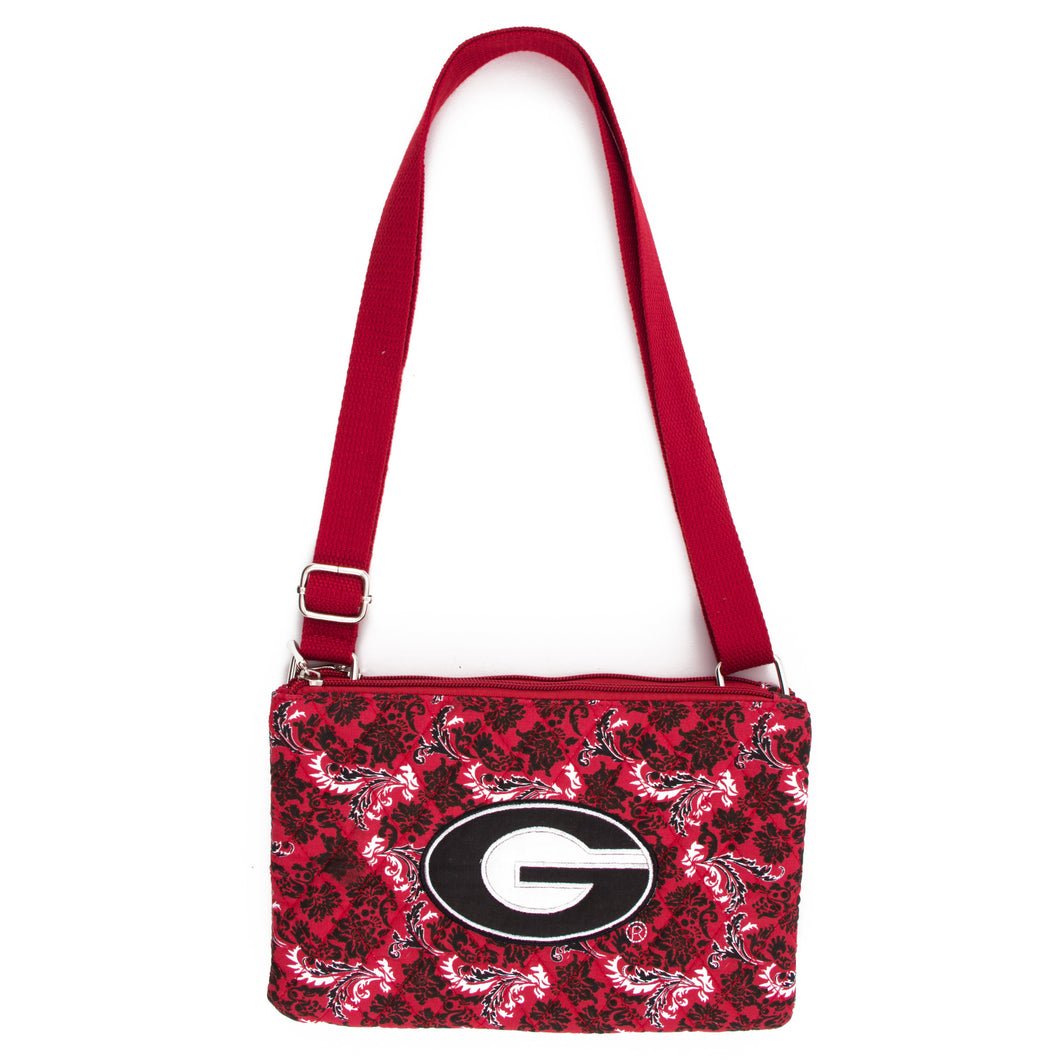 Georgia Bulldogs Purse Cross Body Bloom