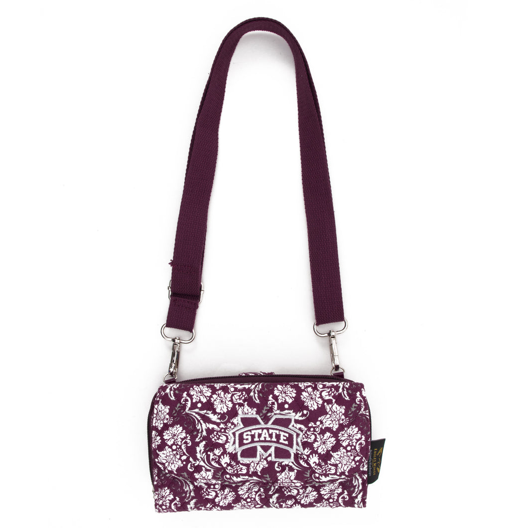 Mississippi State Bulldogs Wallet Cross Body Bloom