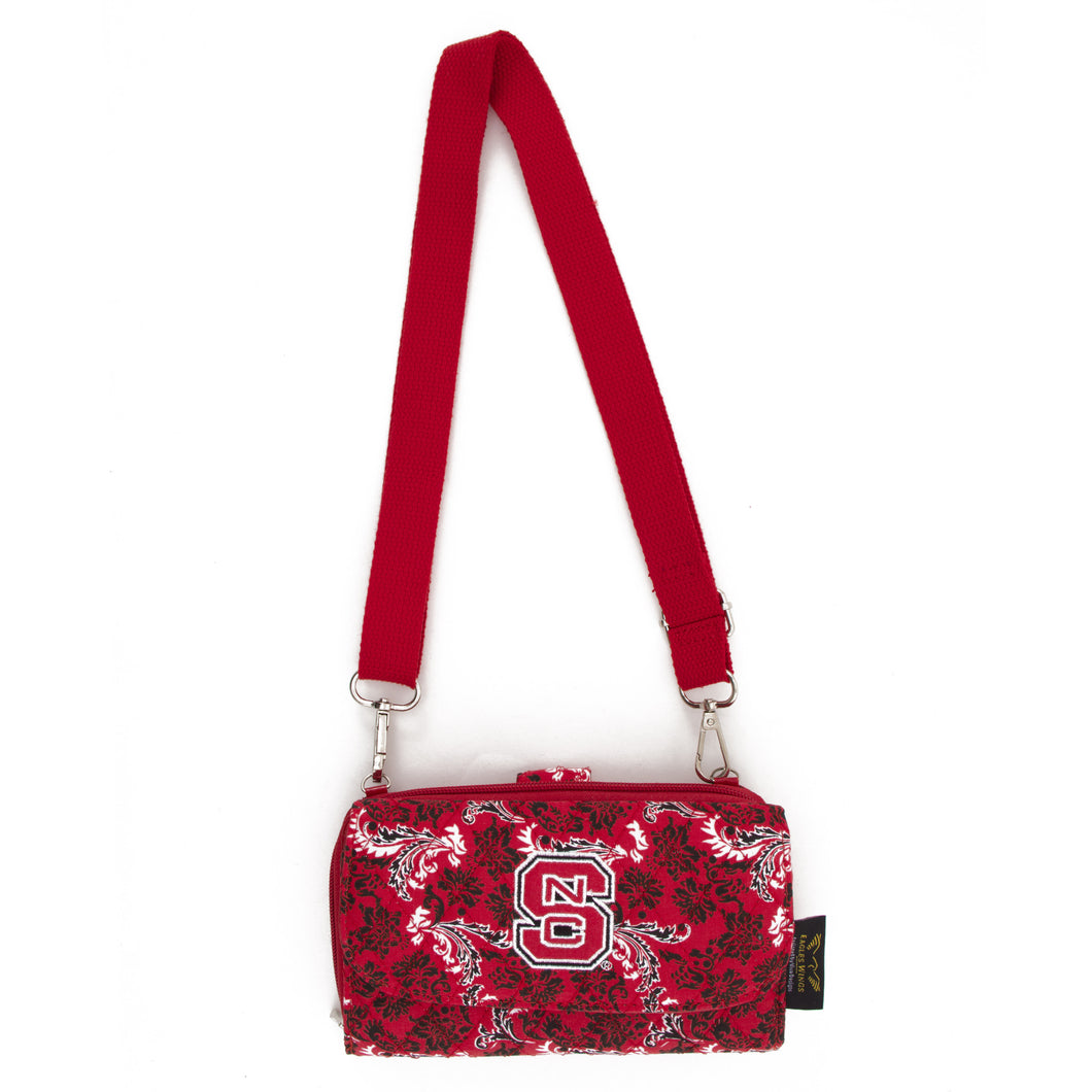 NC State Wolfpack Cross Body Quilted Cotton Wallet