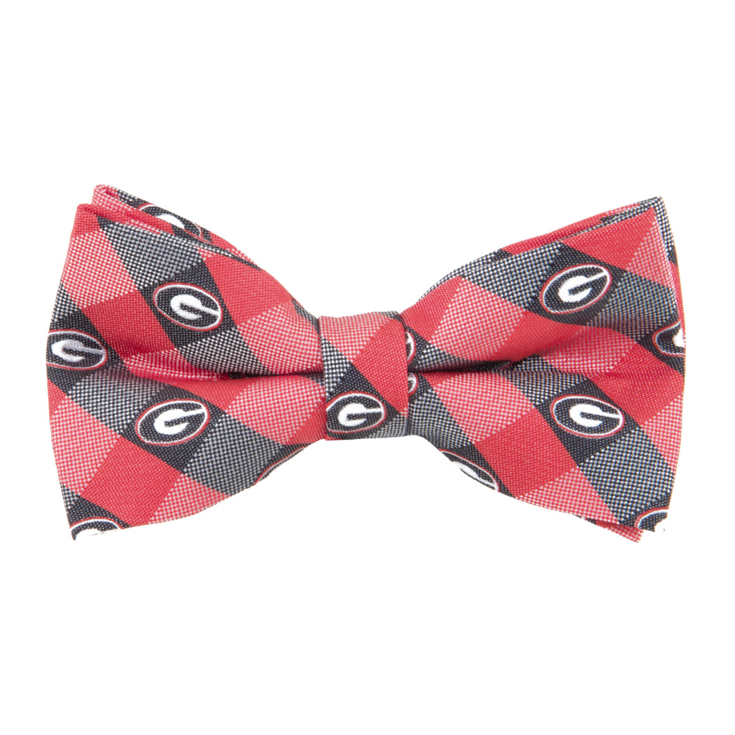 Georgia Bulldogs Bow Tie Check