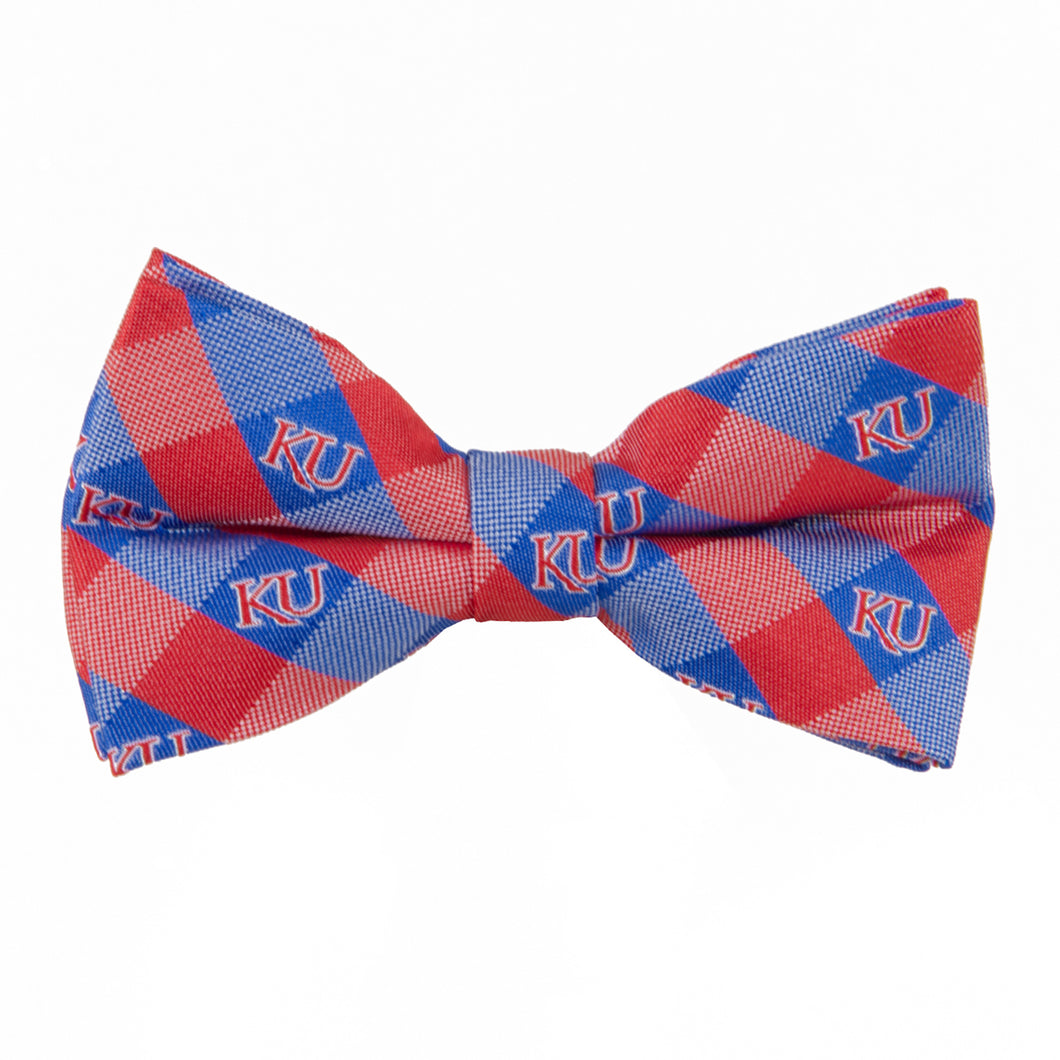 Kansas Jayhawks Bow Tie Check