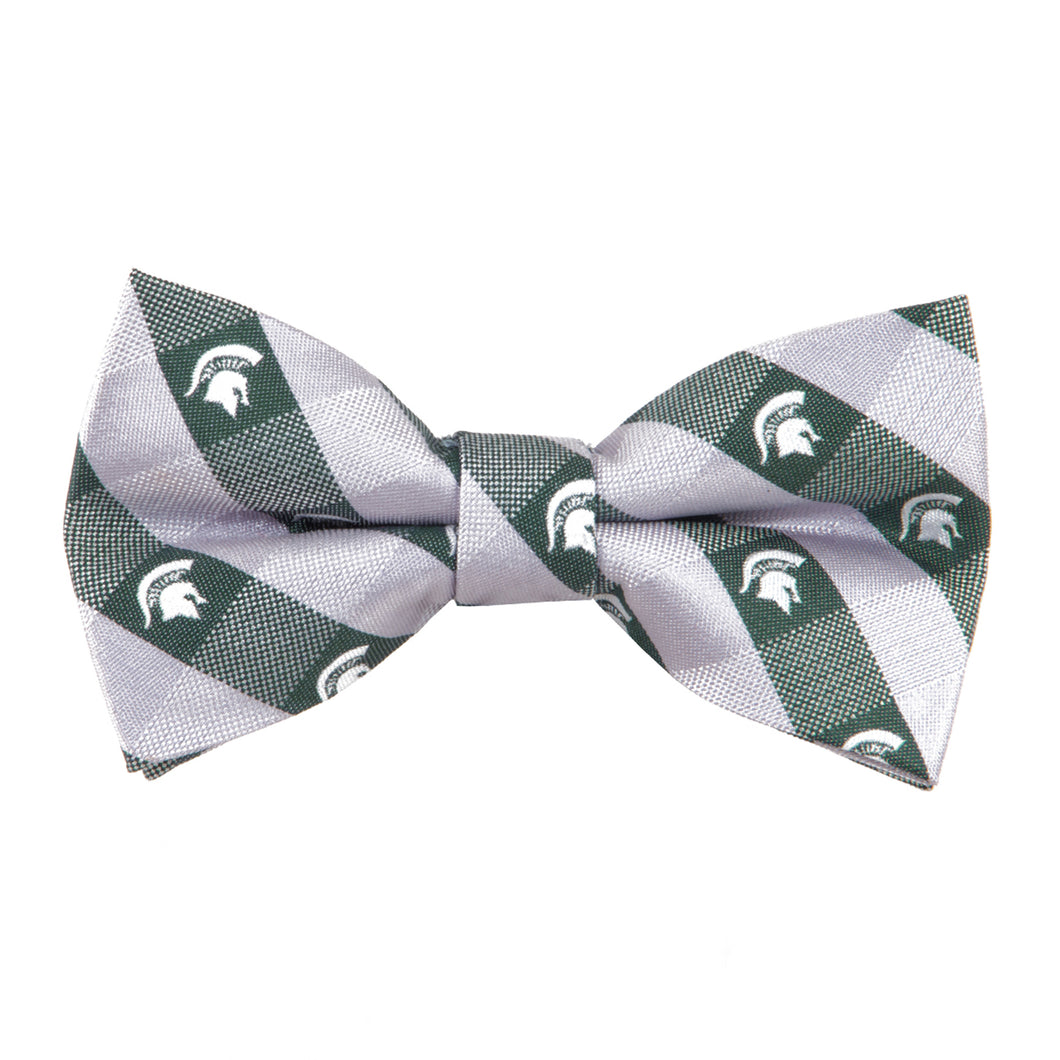 Michigan State Spartans Bow Tie Check