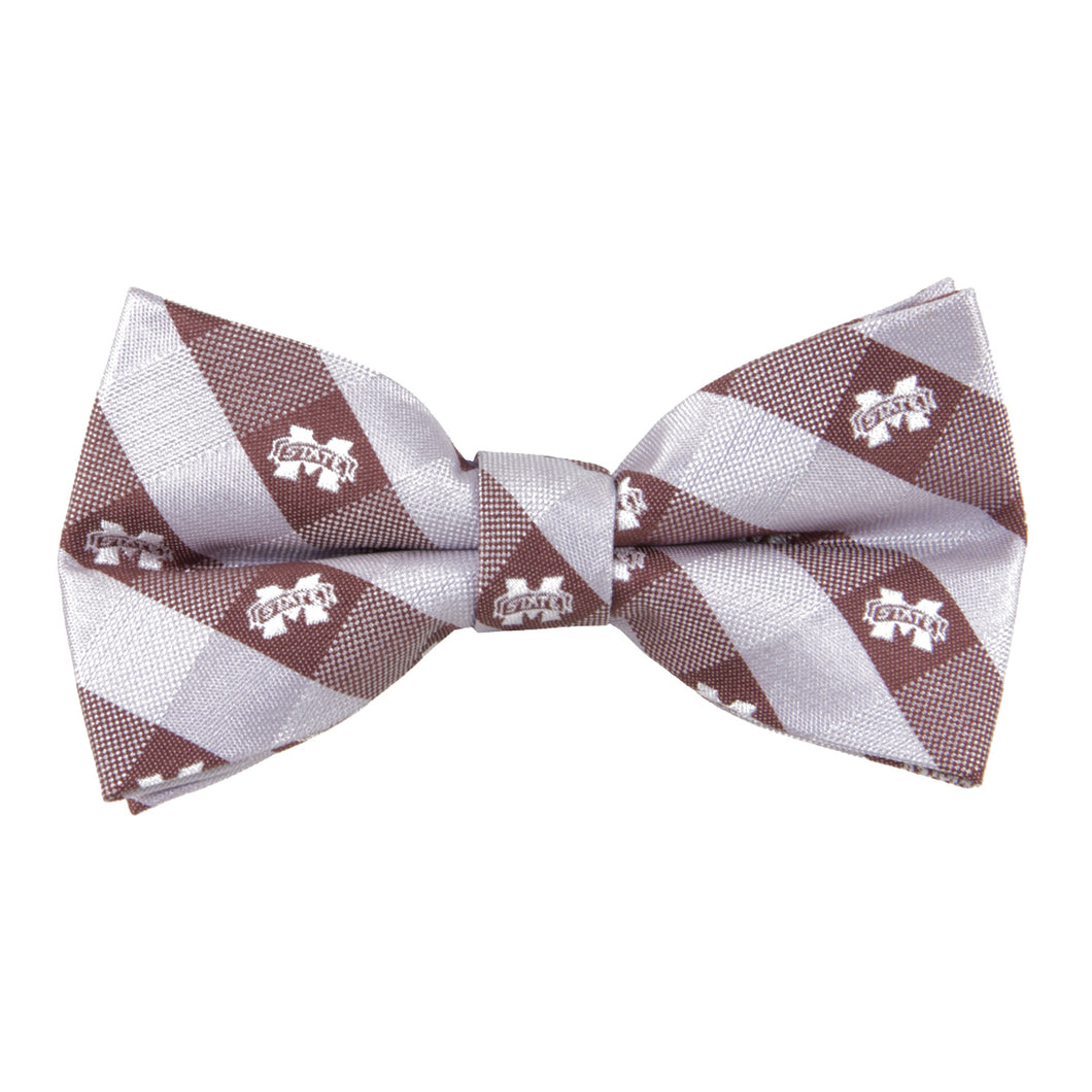 Mississippi State Bulldogs Bow Tie Check