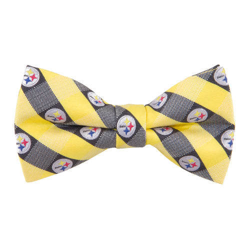 Pittsburgh Steelers Bow Tie Check
