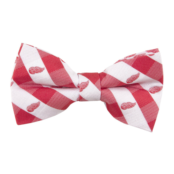 Red Wings Bow Tie Check