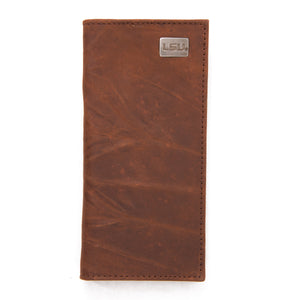 LSU Tigers Brown Secretary Leather Wallet