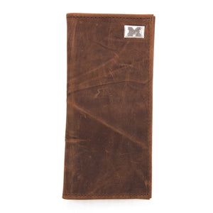 Michigan Wolverines Brown Secretary Leather Wallet
