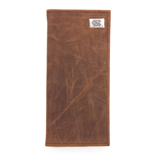 North Carolina Tar Heels Brown Secretary Leather Wallet