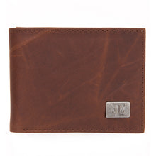 Load image into Gallery viewer, Texas A&M Aggies Brown Bi Fold Leather Wallet