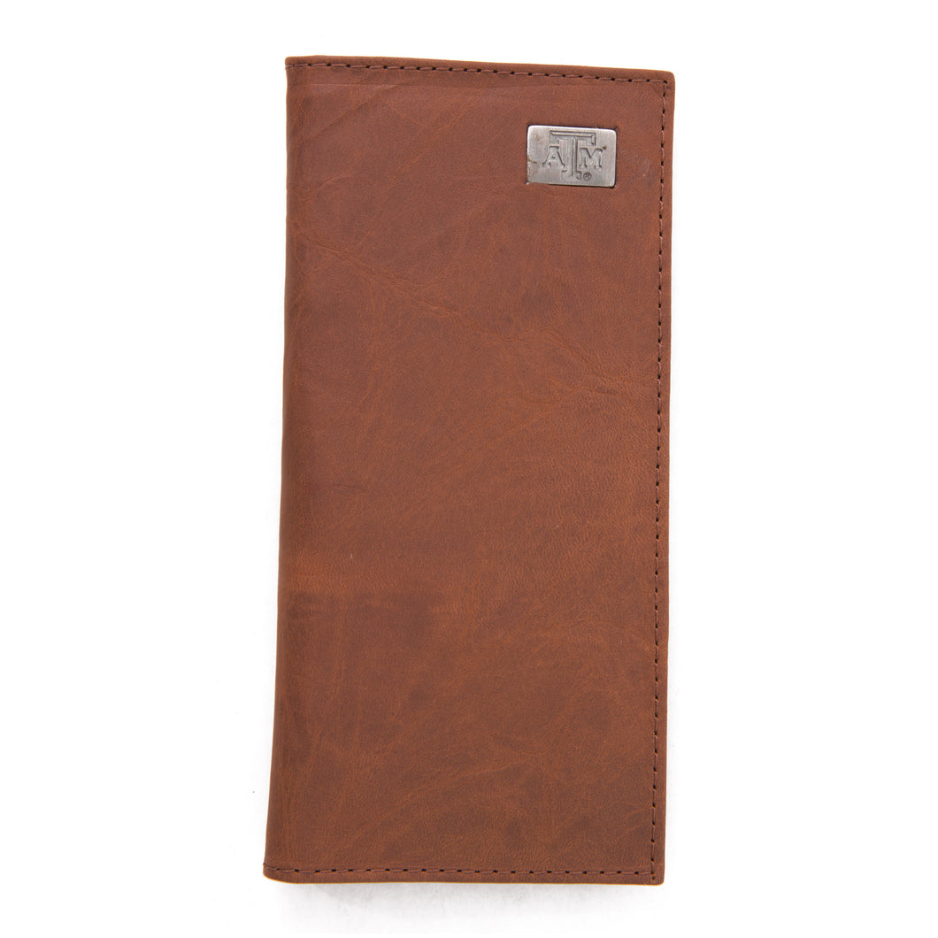 Texas A&M Aggies Brown Secretary Leather Wallet