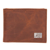 Ohio State Buckeyes Brown Bi Fold Leather Wallet