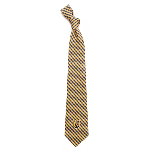 Vegas Golden Knights Tie Gingham