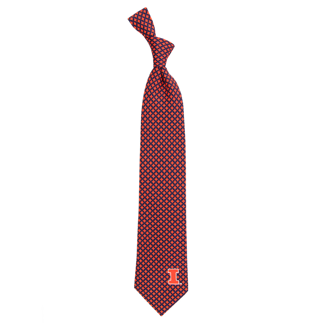 Illinois Fighting Illini Tie Diamante