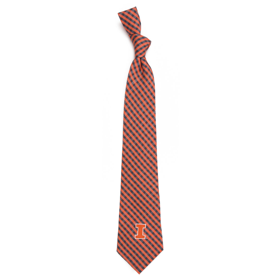 Illinois Fighting Illini Tie Gingham