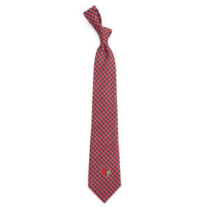 Louisville Cardinals Tie Gingham