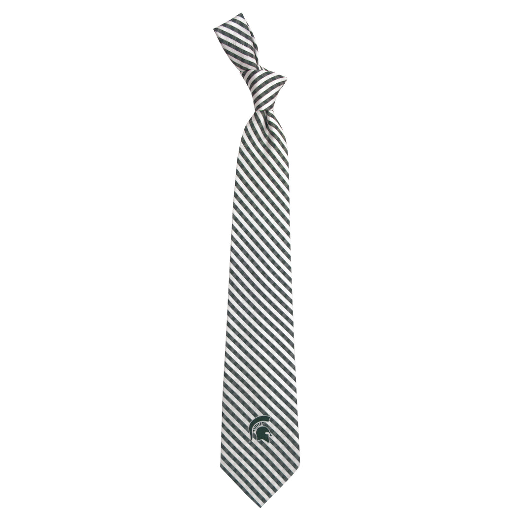 Michigan State Spartans Tie Gingham