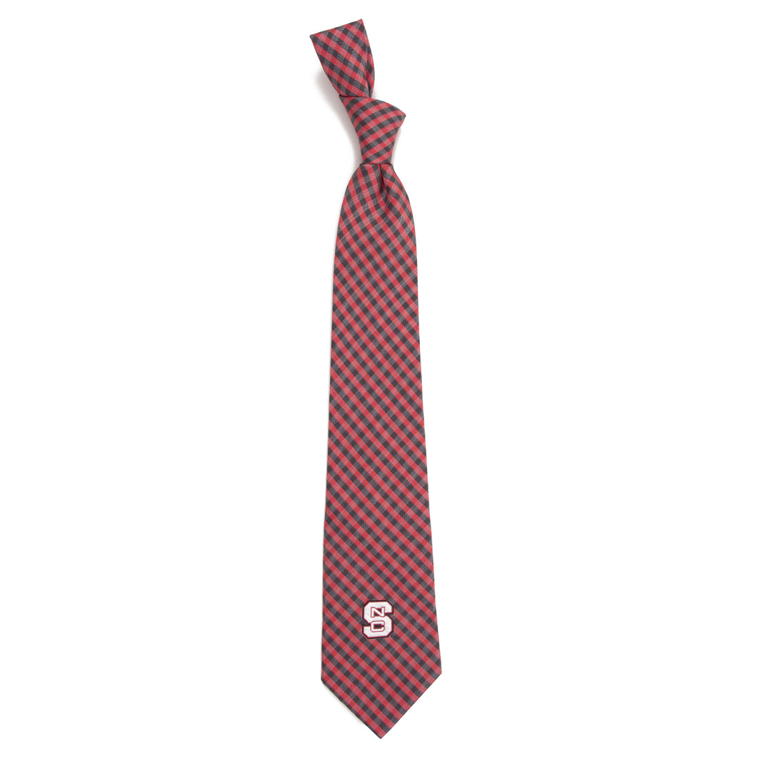 NC State Wolfpack Tie Gingham